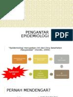 Epidemiologi Week 1 - Pengantar Epidemiologi