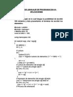 Informe de Lenguaje de Programacion