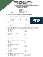 Mathematics Test Grade 7 SMP