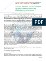 Paper - Optimization of Reactive Power for Line Loss REduction and Voltage Profile Improvement