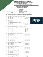 Mathematics Test Grade VIII SMP