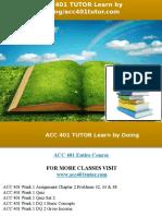 ACC 401 TUTOR Learn by Doing