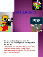 Intelligence Final