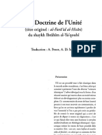 La Doctrine de l'Unité (Ibrahim Al Ya'Qubi) (1)