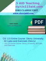 CIS 115 AID Teaching Effectively/Cis115aid.com