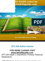 HTT 230 GUIDE Learn by Doing-htt230guide.com