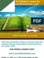 HUM 105 TUTORIALS Learn by Doing-hum105tutorials.com