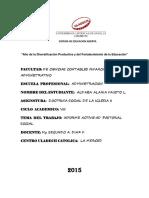 Informe Actividad Pastoral Fausto