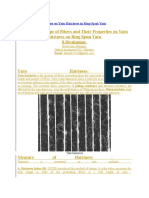 Effect of Fiber Properties on Yarn Hairiness in Ring Spun Yarn