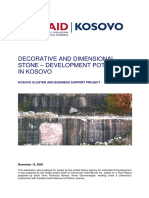 Decorative and Dimensional Stone – Development Potential in Kosovo