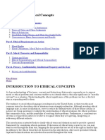 Introduction to Ethical Concepts