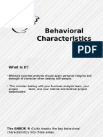 Behavioral Characterstics