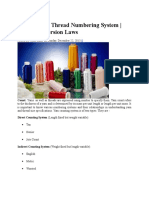 Yarn Count Thread Numbering System Count Conversion Laws