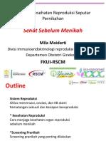 Sehat Sebelum Menikah - Dr.mila Maidarti, Sp.og