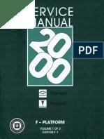 2000 Chevrolet Camaro & Pontiac Firebird Service Manual Volume 1
