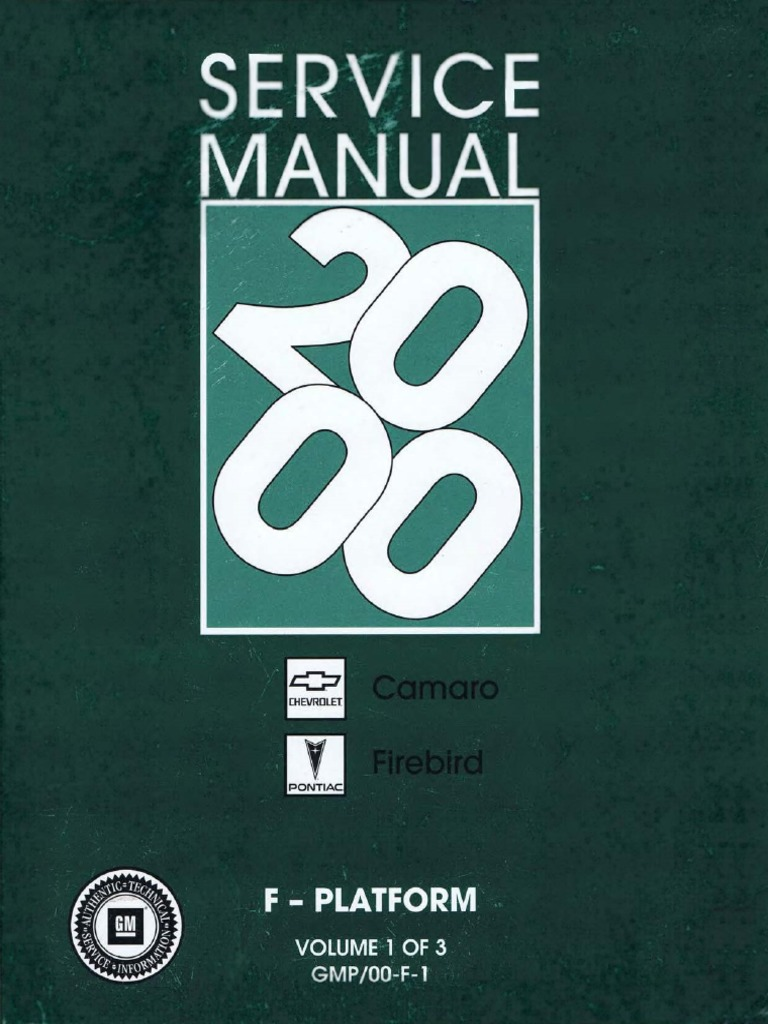 2000 Chevrolet Camaro  U0026 Pontiac Firebird Service Manual