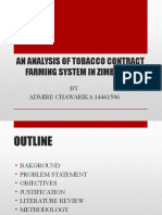 An Analysis of Tobacco Contract Farming System In