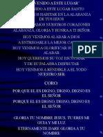BIENVENIDO A ESTE LUGAR