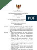 Permen Kominfo RI No. 8 Tahun 2007 tentang Tata Cara Perizinan dan Penyelenggaraan Penyiaran Lembaga Penyiaran Swasta