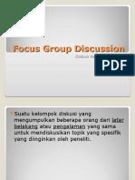 Focus Group Discussion Presentation