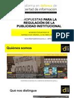 Propuestas de la PDLI sobre publicidad y comunicación institucional