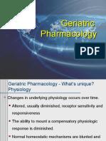 Pharmacology in Geriatric