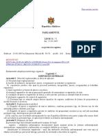 Legea nr. 71 din 22.03.2007 cu privire la Registre