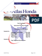 Atlas Honda Final Report by Fahad