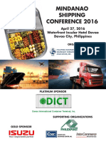Mindanao Shipping Conference 2016 Flyer