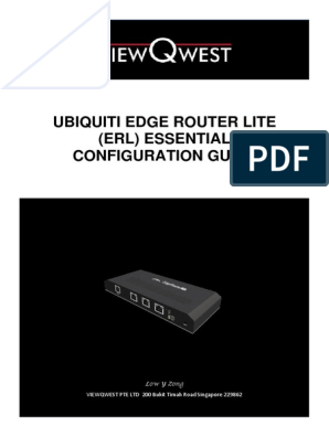 Edge Router Lite Essential Configuration Guide | Ip Address