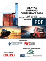 Visayas Shipping Conference 2016 flyer