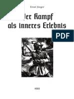 Ernst Jünger - Der Kampf als inneres Erlebnis