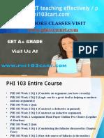 PHI 103 CART teaching effectively / phi103cart.com