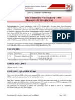 Detailed Advt ET 2016 CLAT