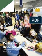 De Staat Van Het Onderwijs 2014 2015