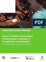Impact of WASH interventions during disease outbreaks in humanitarian emergencies