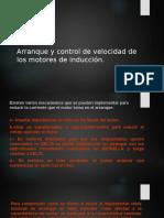 Arranque y Control de Velocidad de Los Motores de Inducción.