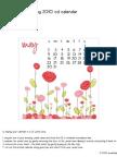 May 2010 CD Calendar W-Instructions