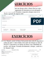 exercicio cheques