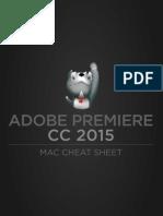 Adobe Premiere CC 2015 Mac Cheat Sheet