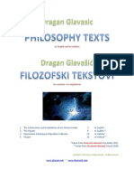 Glavasic - Philosophy Texts (in English and Serbian)