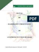 Manual de Elaboracion de Tesis 2013