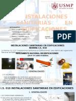 Is.010 Instalaciones Sanitarias