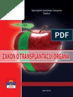 """Zakon o transplantaciji organa (""""Sl.glasnik RS"""", br.72/2009)"""