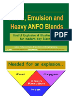ANFO, Emulsion and Heavy ANFO Blends – Useful Explosive and Blasting Agent for modern day blasting