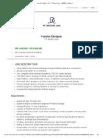Fashion Designer Job - PT Bestari Jaya - 1858650 _ JobStreet