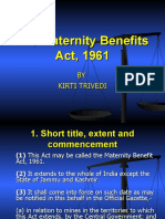 Presentation The Maternity Benefits Act, 1961