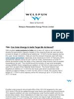 Renewable Resources | welspun renewables