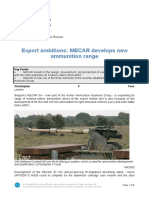 Export Ambitions MECAR Develops New Ammunition Range