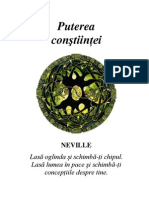 Neville Goddard Puterea Constiintei